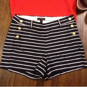 J. Crew, Navy Striped, Sailor Shorts